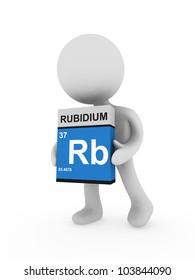 3d man carry a rubidium box