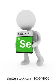 3d man carry a selenium box