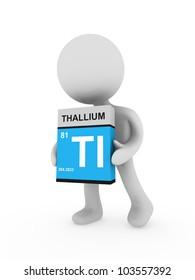 3d man carry a thallium box