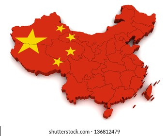 3D Map of China
