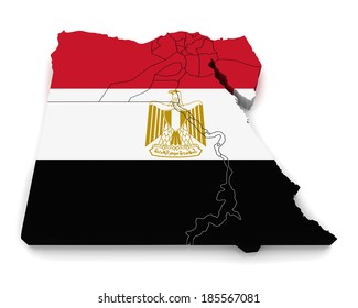 3D map of Egypt