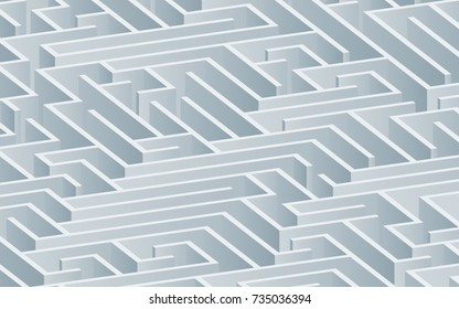 3d maze viewed from above in Blue Grey from the Material Design palette