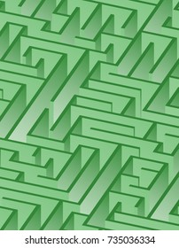 3d maze viewed from above in Green from the Material Design palette
