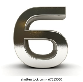 3D Metal number isolated