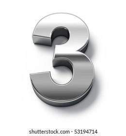 3d Metal numbers - number 3