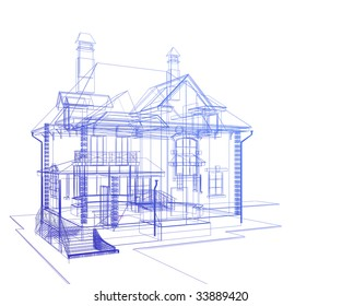 3d model of the house