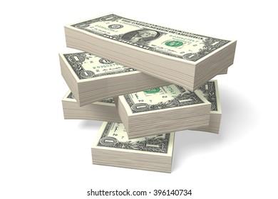 3D money concept.