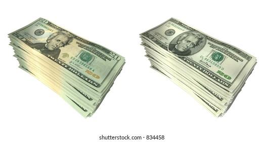 3D Money Stacks 01