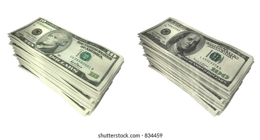 3D Money Stacks 02