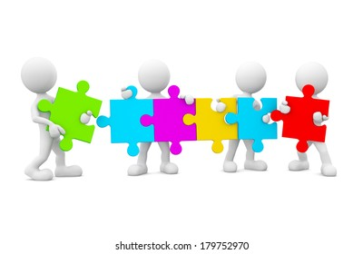 3d Morph Men Connecting Jigsaw Puzzle