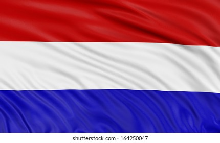3D Netherlands flag (clipping path included)