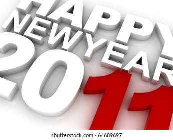 3D New Year Concept | Extreme Tight Close-Up great for Small Banners or Ads