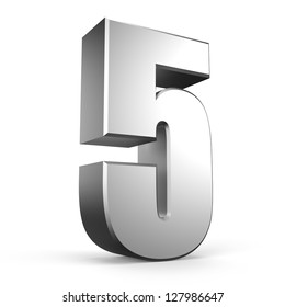 3D number 5 from my metal number collection