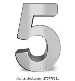 3D. Number, Three-dimensional Shape, Metal.