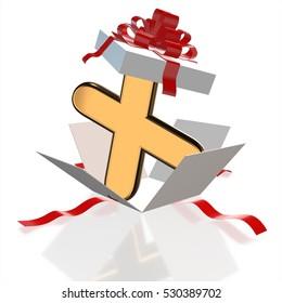 3d Open surprise gift box