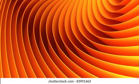 3d orange lines background