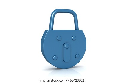 3d Padlock on a white background