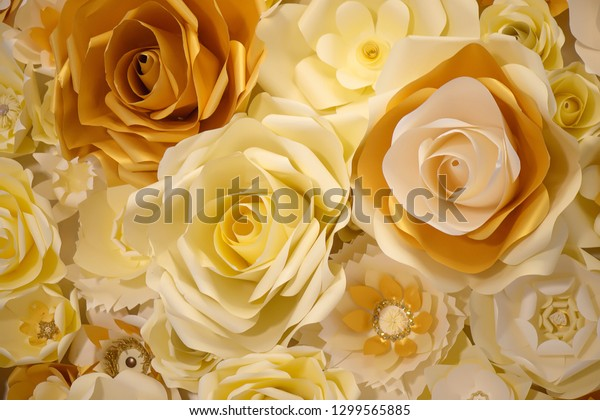 3d Paper Flower Wall Decor Idea Stock Photo Edit Now 1299565885