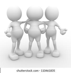 3d people - men, person talking. Concept of dialogue, communication