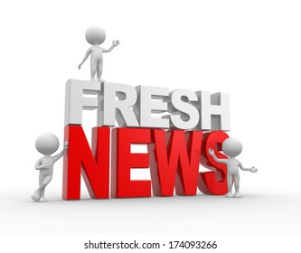 3d people - men, person and text fresh news