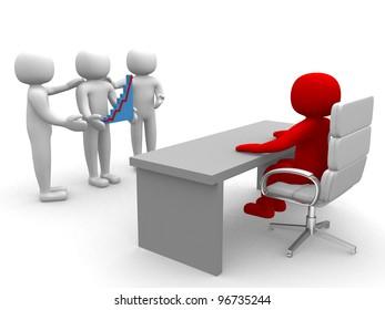 3d people who have business evolution - 3d render illustration