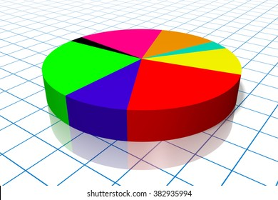 3D pie chart to enhance your presentation - great for topics like financial data or report, market research etc.