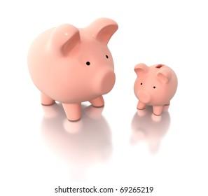 3d piggy banks