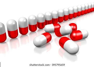 3D pills - great for topics like healthcare, medicine, pharmacy etc.