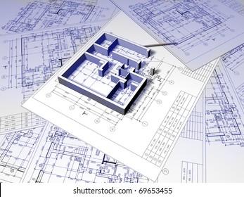 3D plan drawing