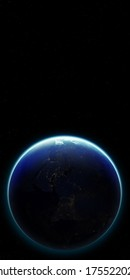 3D Planet Earth. Elements of this image furnished by NASA.