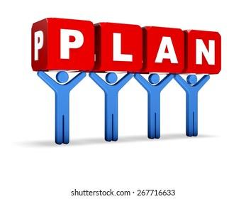 3D. Planning, Plan, Business.