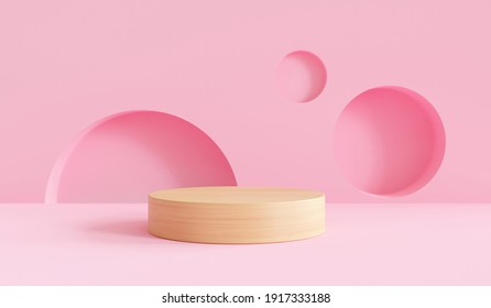 3D podium render vector of pink geometric background or texture. Bright pastel podium or pedestal backdrop. Blank minimal design concept. Stage for ceremony on pink pedestal background 3d render - Shutterstock ID 1917333188