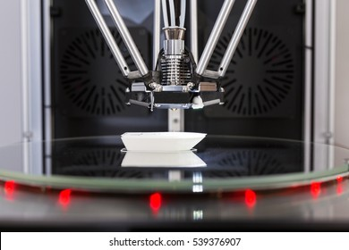 3D printer in process printing an object