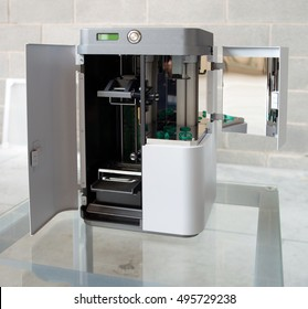 3D Printer (SLA and DLP). Stereolithography (SLA) and Digital Ligh Processing (DLP) is a form of additive manufacturing technology used for creating models, prototypes, patterns, and production parts.