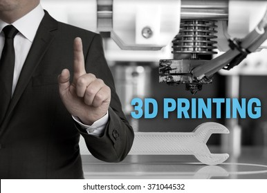 3d Printing and businessman concept.