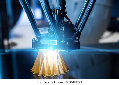 3D printing machine during work process
