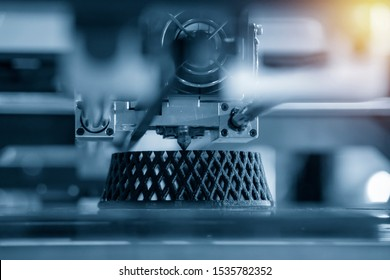 The 3D printing machine make the 3D prototype model by resin material. The hi-technology for rapid prototype method by 3d printing machine. - Shutterstock ID 1535782352