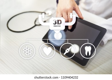 3d printing in modern medical technology. Bioprinting, prosthetics.