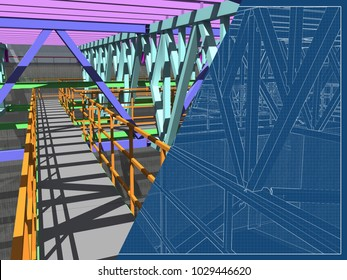 Farm wall images stock photos vectors shutterstock 3d project of reconstruction and construction of buildings made of metal structures transparent wall malvernweather Images