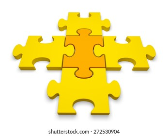 3D. Puzzle, Jigsaw Puzzle, Individuality.