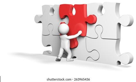3D. Puzzle, Service, Three-dimensional Shape.