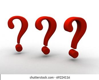 3d question signs