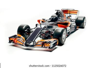 3d  race car render