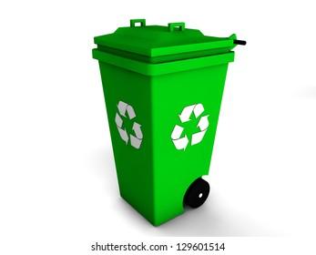3d recycle bin