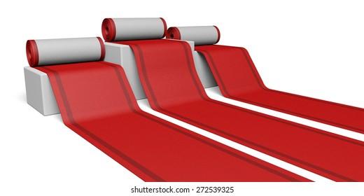 3D. Red Carpet, Carpet, Greeting.