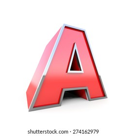 3D Red Letter A