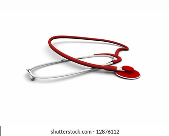 3d red stetoscope