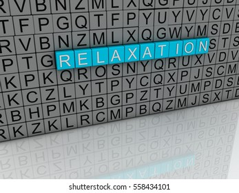 3d Relaxation word cloud concept