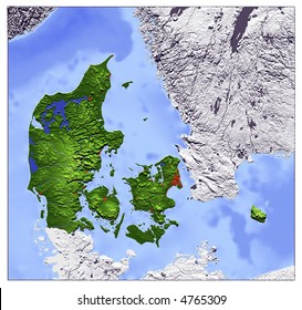 3d relief map denmark line sight stock illustration 4765312 3d relief map of denmark seen from above shows major cities and rivers publicscrutiny Gallery