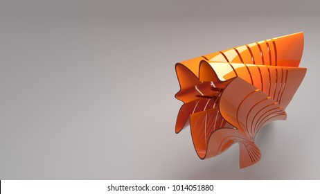 3d render abstract colorful shape